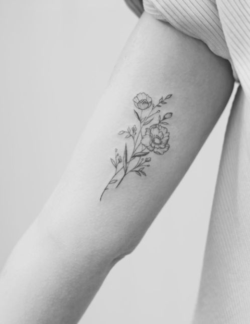 37 Cute and Meaningful Small Tattoo Designs #flowertattoos