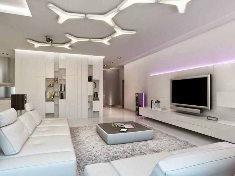 diseo moderno de luces led en el techo