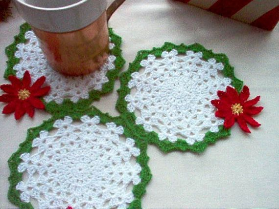 Holicay Coaster Set Crochet by MSA