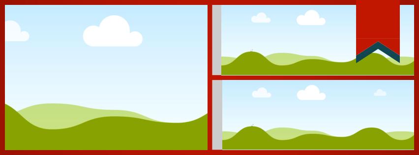 3 Panel Grid Facebook Cover. Click here to remix this design: https://www.canva.com/design/DAANChMStIU/remix