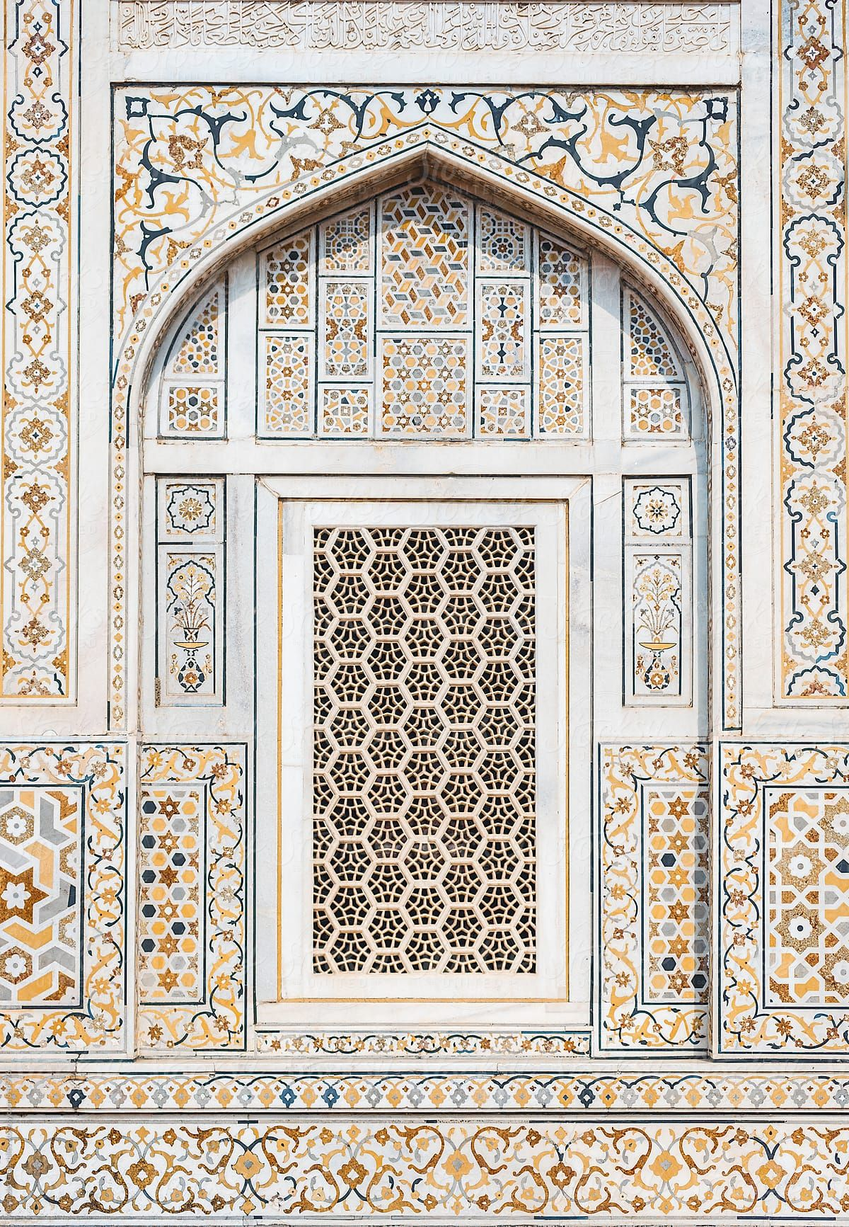 Arabic Mosaic Pattern Window by Alexander Grabchilev  - Stocksy United