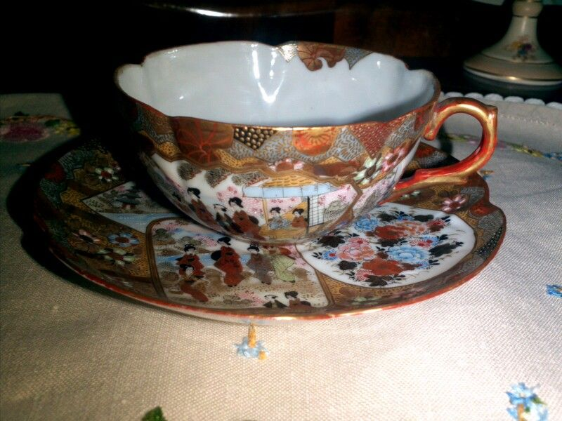 Satsuma cup and saucer very delicate