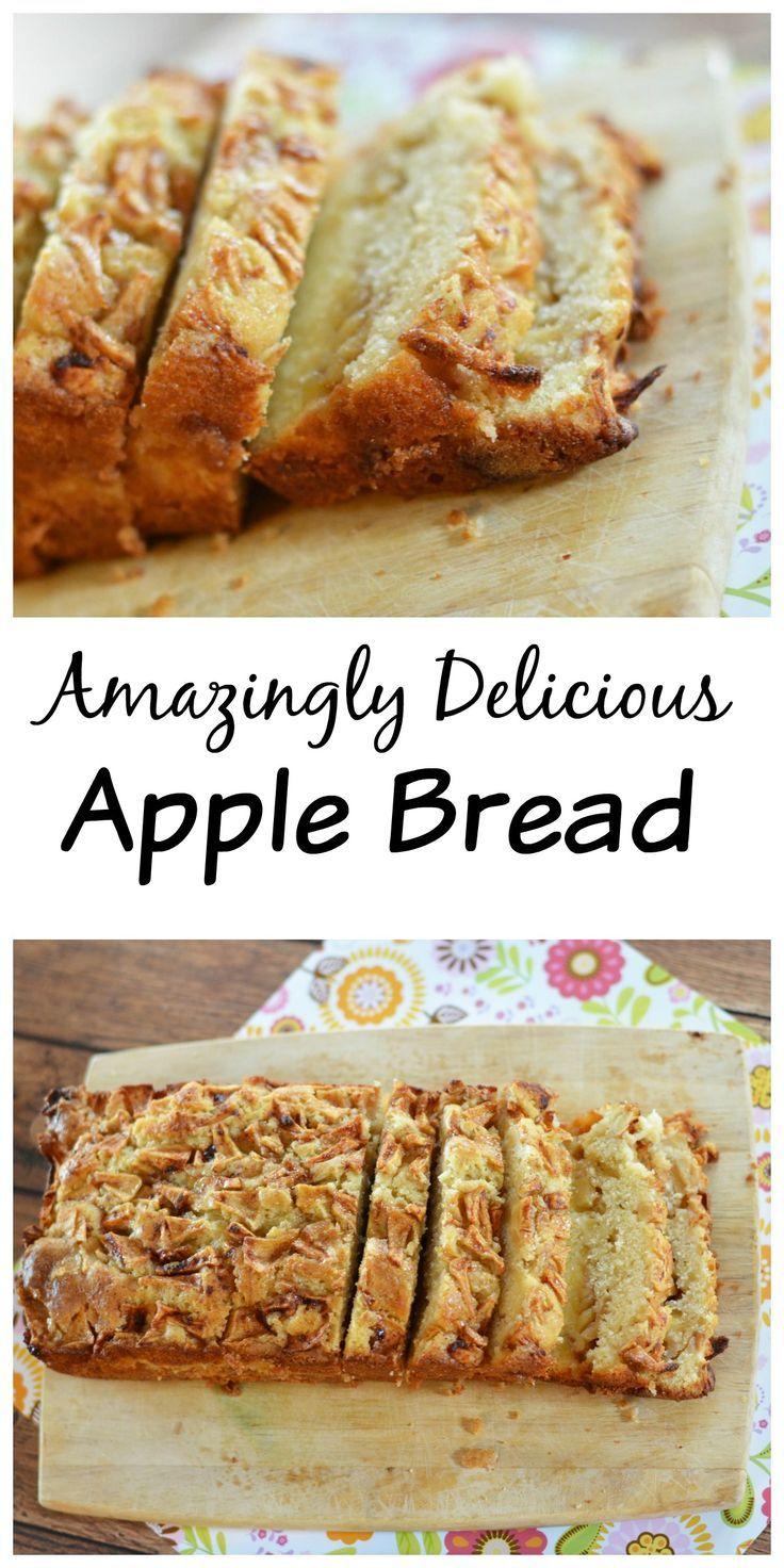Amazingly Delicious Homemade Apple Bread #applerecipes
