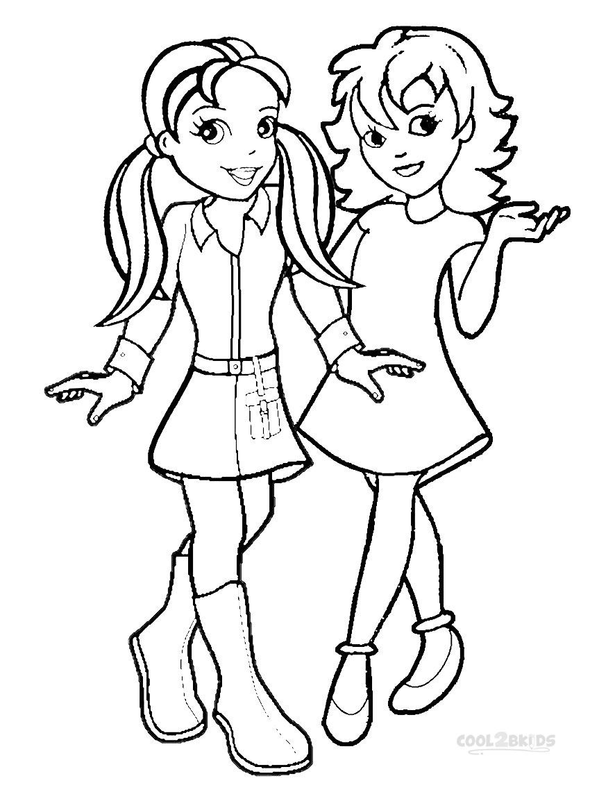 mini polly pocket coloring pages - photo#7