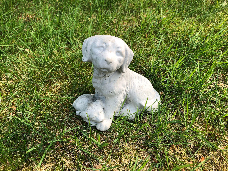 Concrete Beagle Dog Statue Cute Cement Dog Garden Figure Beagle