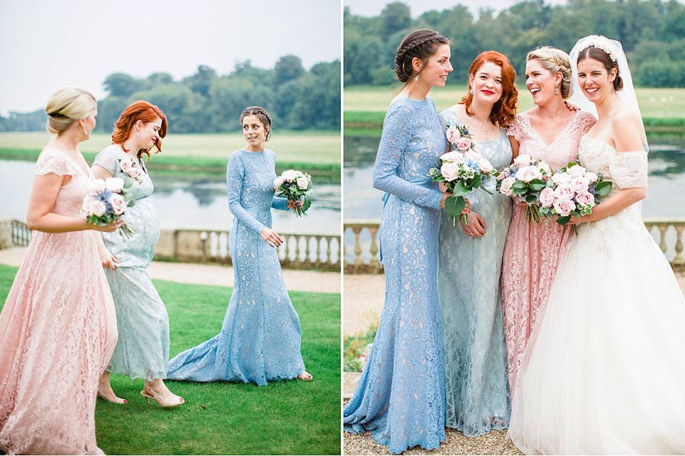 Mismatched bridesmaid dresses. TH&TH Bridesmaids. www.thandth.com ...