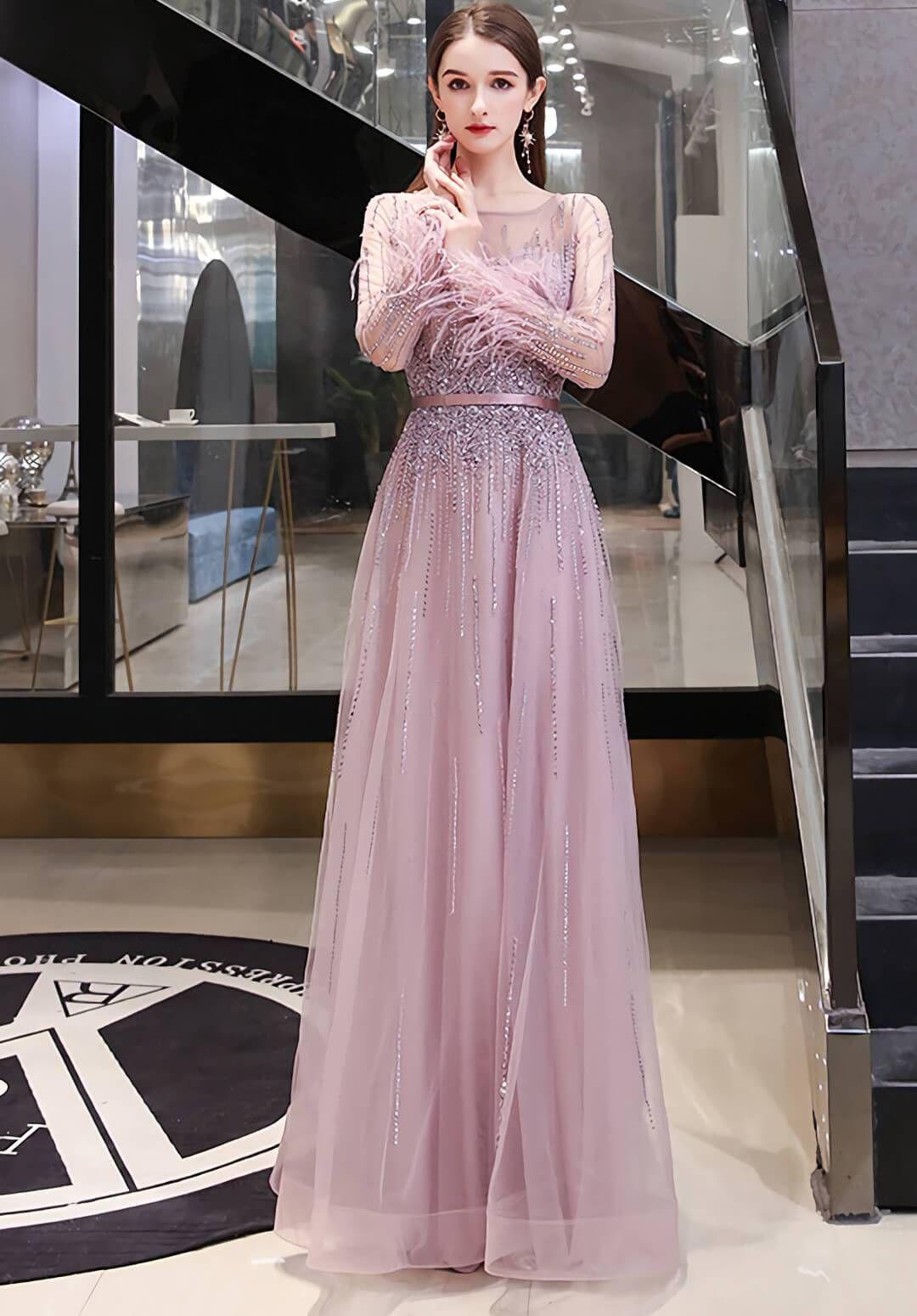 ALine Prom Dresses Junoesque Rhinestones Embellished