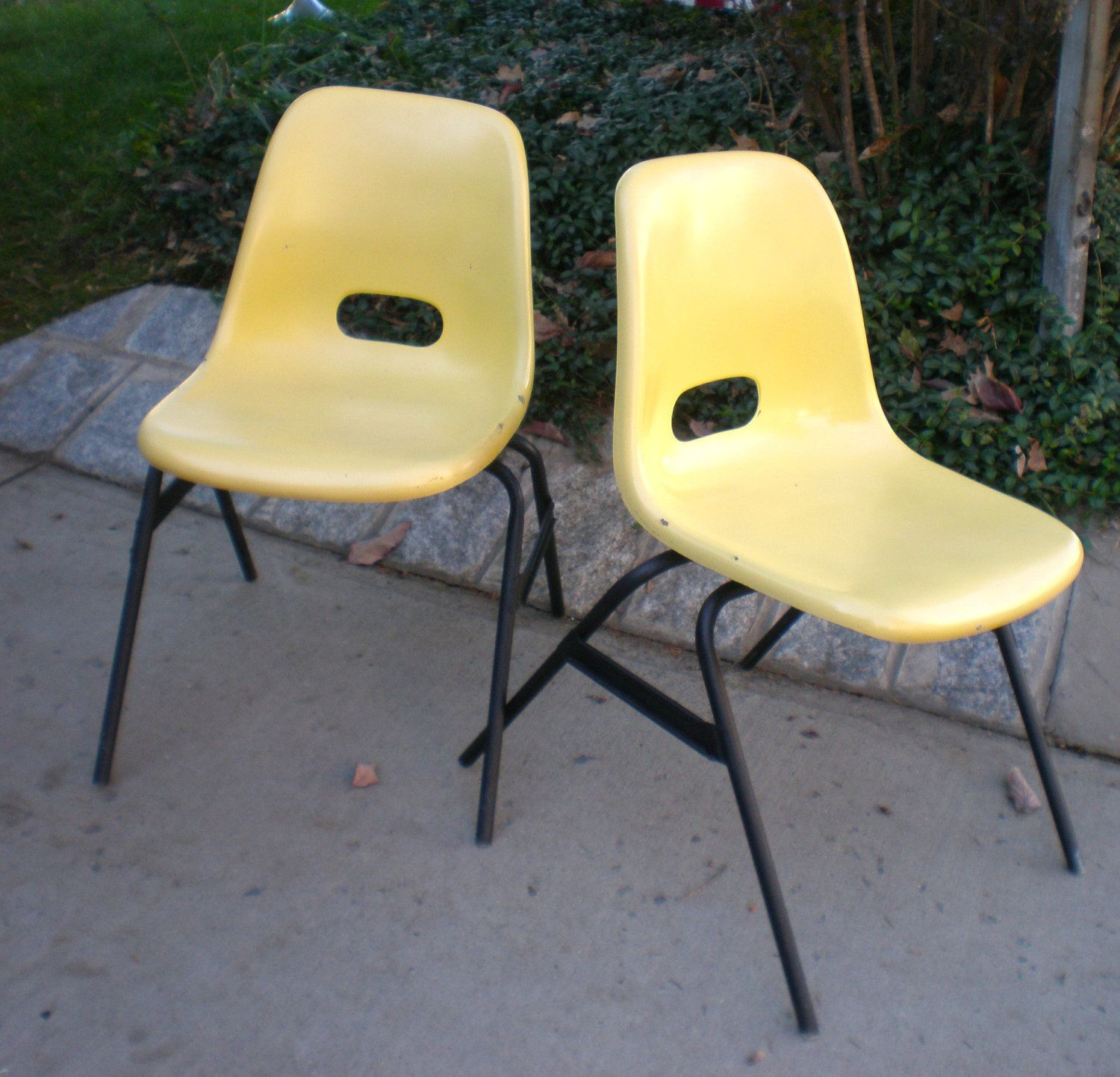 Eames Style Molded Fiberglass Youth Chairs School House