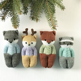 Forest Friends Dolls pattern by Esther Braithwaite #instructionstodollpatterns