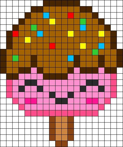 Perler Beads Kawaii Food Perler Beads Pixel Art