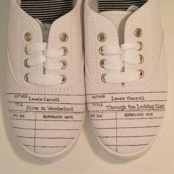 Personalized Library Due Date Card Canvas Shoes Make A