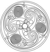 Celtic Spiral Mandala Kleurplaat Celtic Buddhist Pinterest