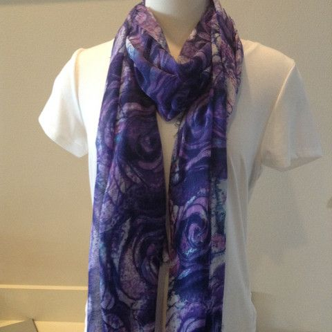Blue Pacific Roses Scarf