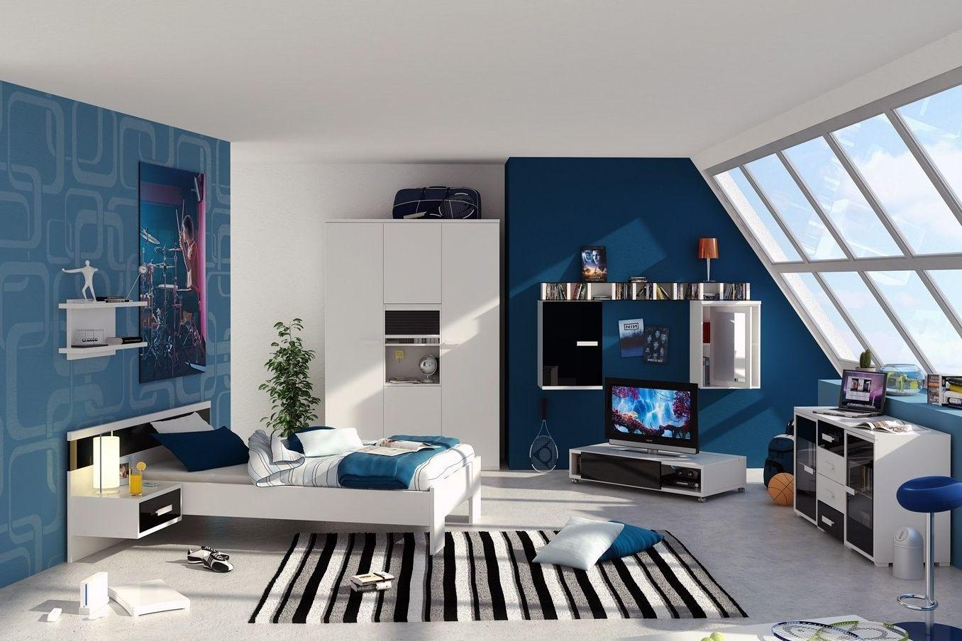 10 Inspirasi Perpaduan Warna Keren Untuk Dinding Kamar Bedroom Design Kids Bedrooms Colors Boy Bedroom Design Inspirasi blue bedroom decor