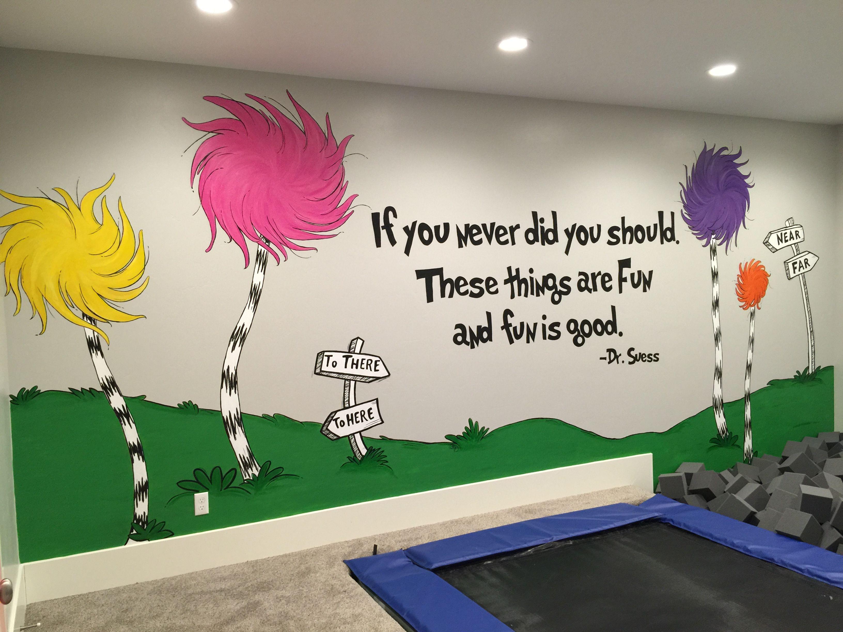 Dr Suess Mural Murals I Ve Painted Tuffula Trees Lorax