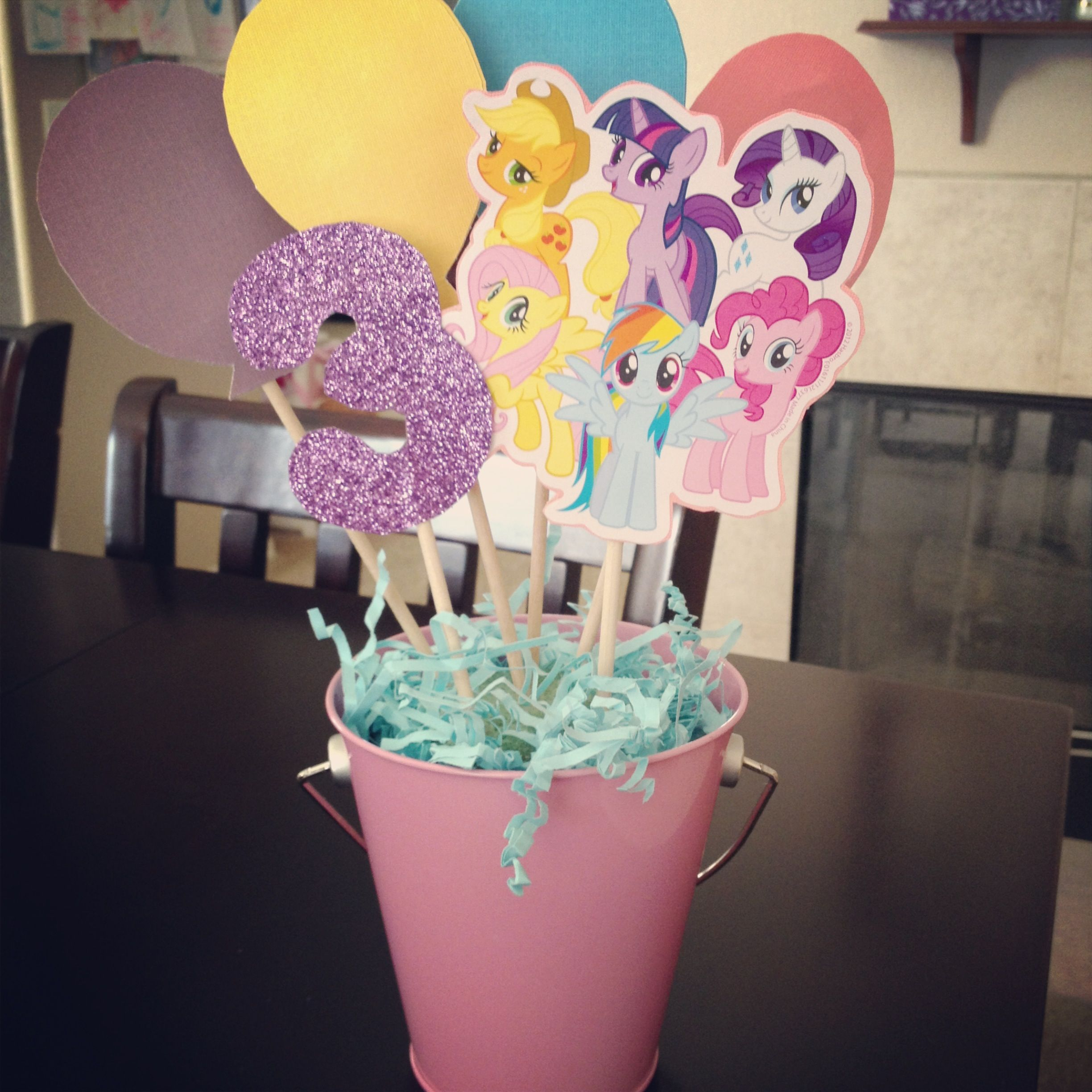 Homemade my little pony centerpieces stuff for