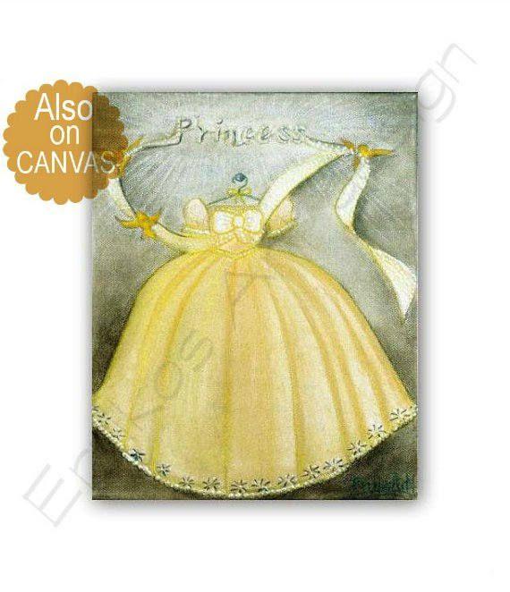 Princess Cinderella\'s Dress Art Print, Princess decor, Disney ...