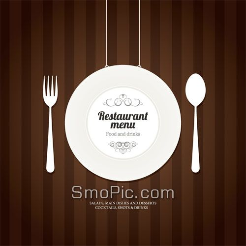 Smopic free creative tableware restaurant menu