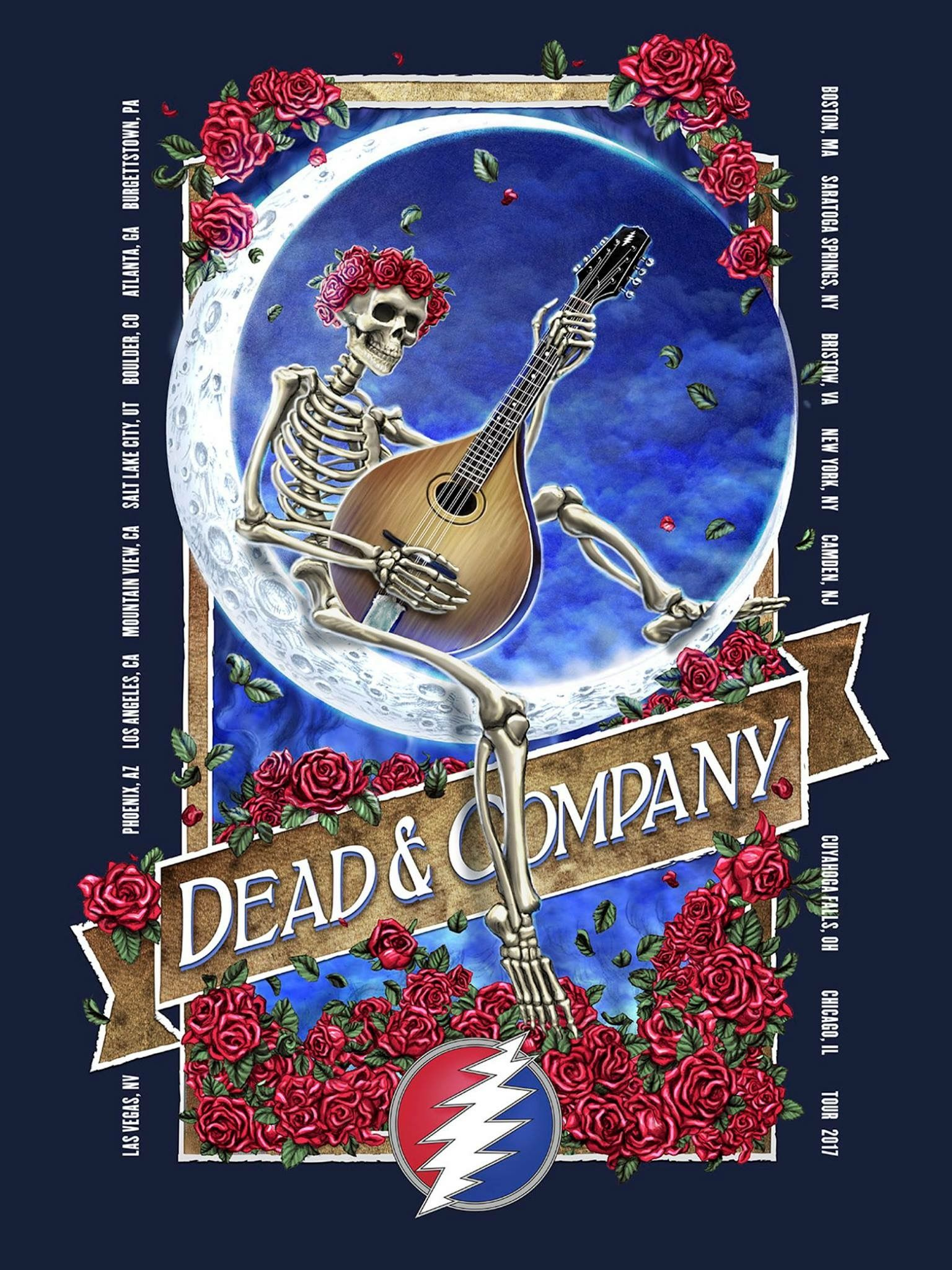 Pin By Lisa Scott Lozano On Dead Co Grateful Dead Wallpaper Grateful Dead Poster Dead And Company