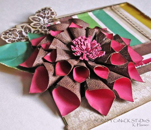 Flower tutorial a mum for michele paper cones rolled paper and rolled paper cone mum mightylinksfo