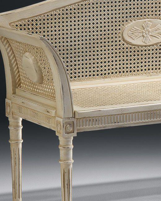 White Bench Antique White English Style Bench Bench Furniture Furniture Entry Furniture