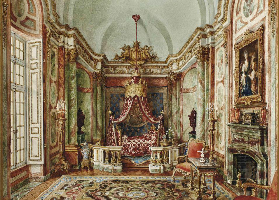 Alexandre Serebriakoff (1907-1994) Grande chambre, Hôtel Rodocanachi signé et daté 'A. Serebriakoff 1946'