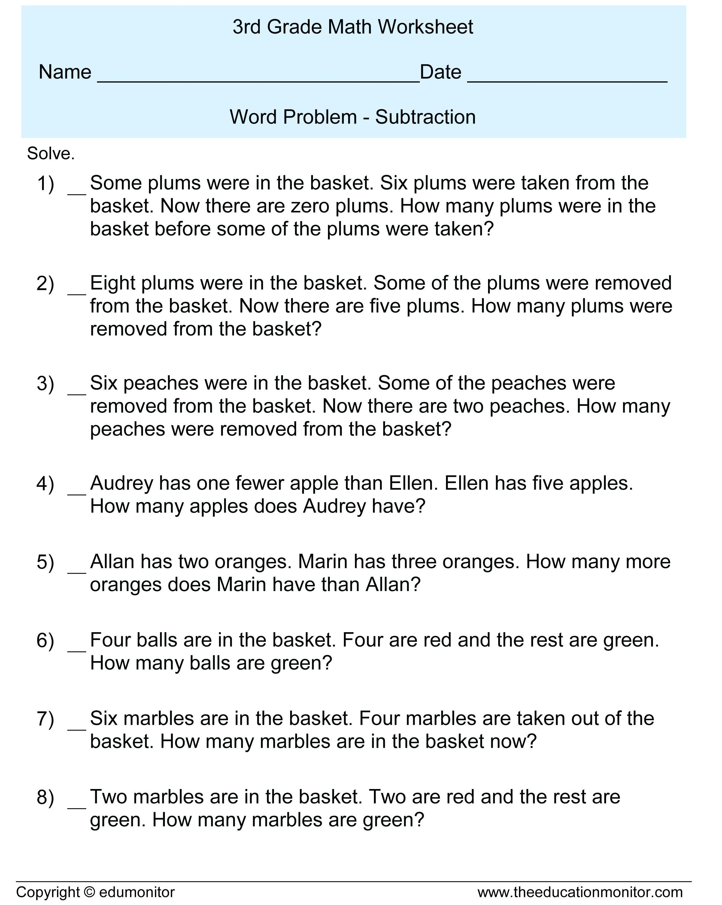 Adding And Subtracting Integers Worksheet All About Worksheet Word Problem Worksheets 3rd Grade Math Worksheets 4th Grade Math Worksheets