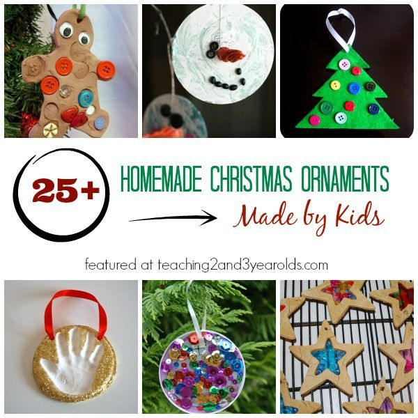 25 Homemade Christmas Ornaments For Kids Christmas Pinterest