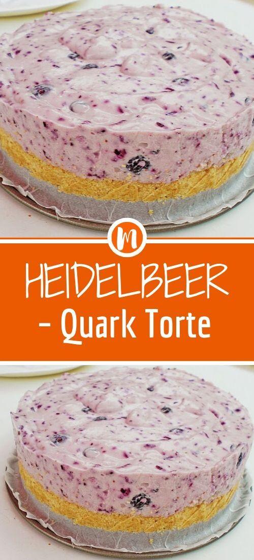 Heidelbeer Quark torte #löffelbiskuitrezept
