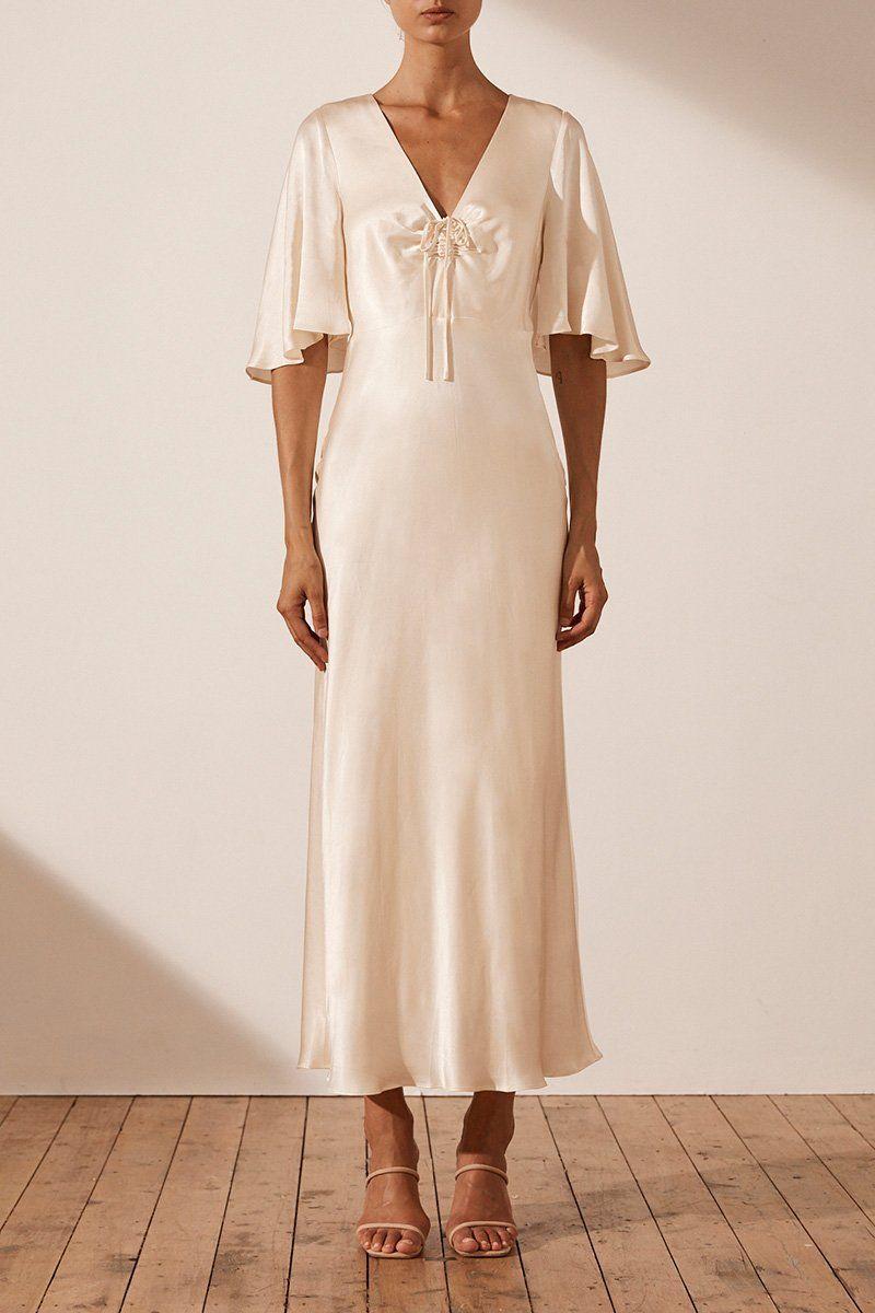21+ Flutter sleeve dress information