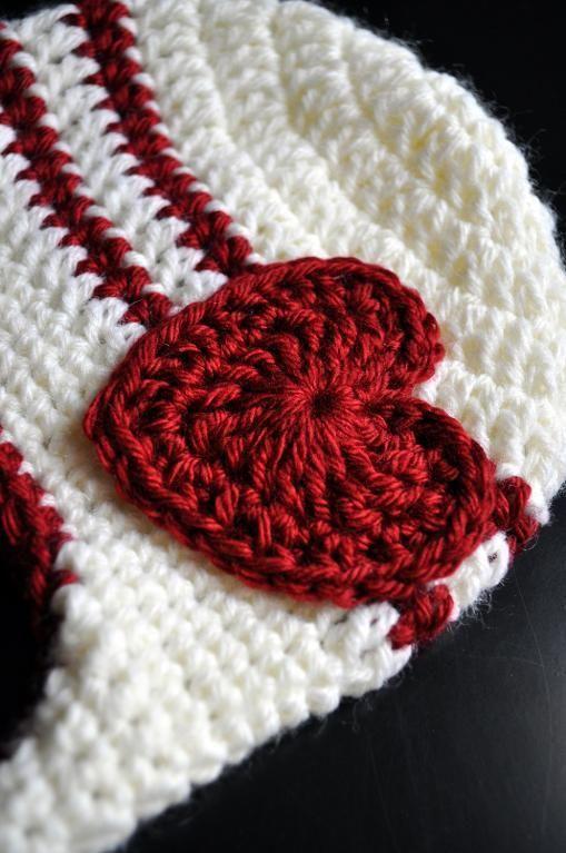 Classy Crochet Striped Earflap Hat | linda | Pinterest | Herz häkeln ...