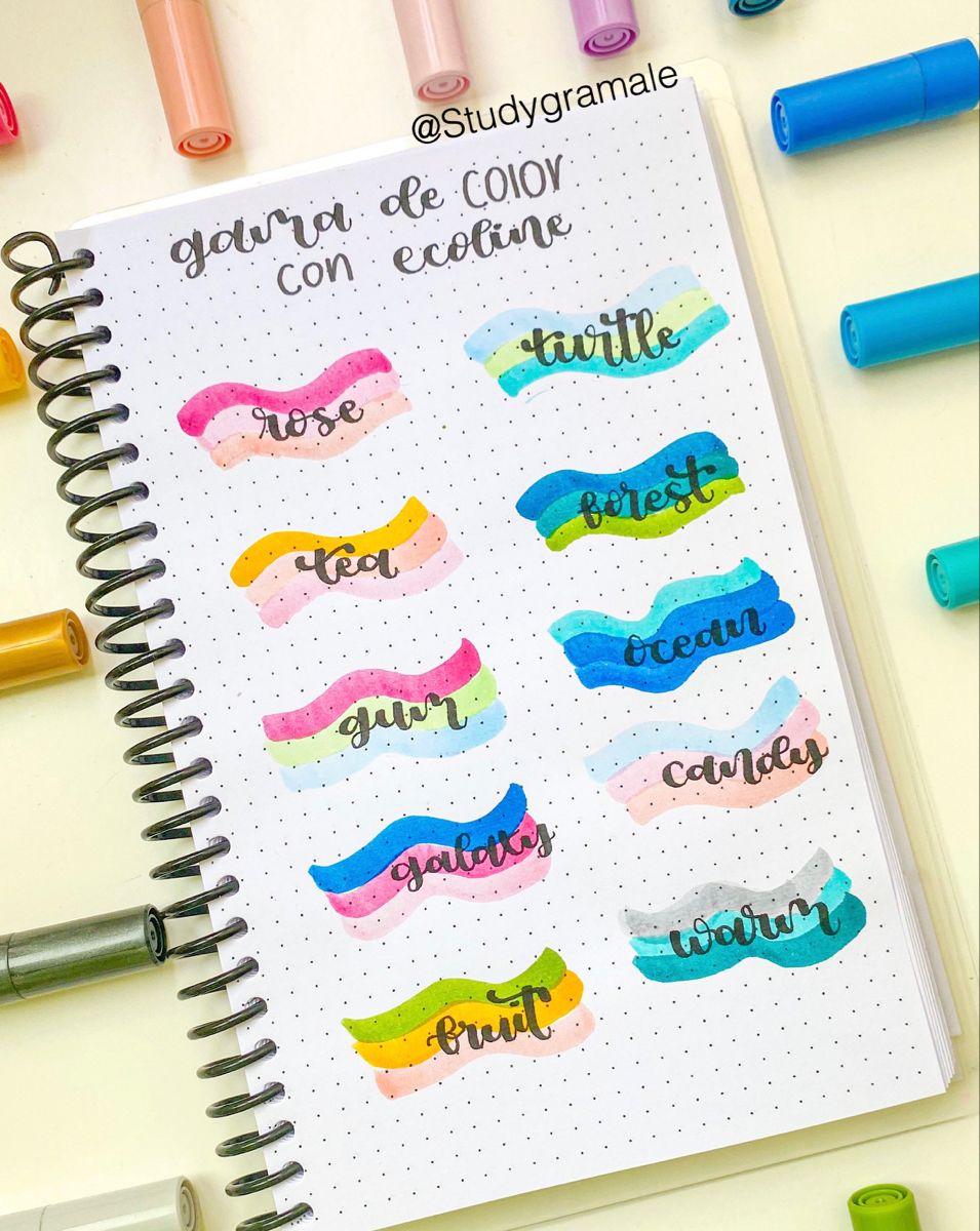 Paleta De Colores En 2020 Libreta De Apuntes Titulos Bonitos Para Apuntes Notas De Dibujo