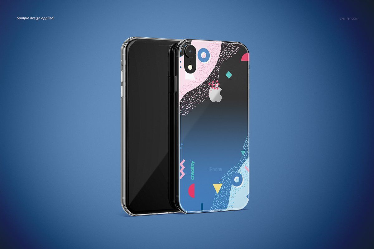 Download Iphone Xr Clear Case Mockup Set Iphone Iphone Case Design Clear Cases