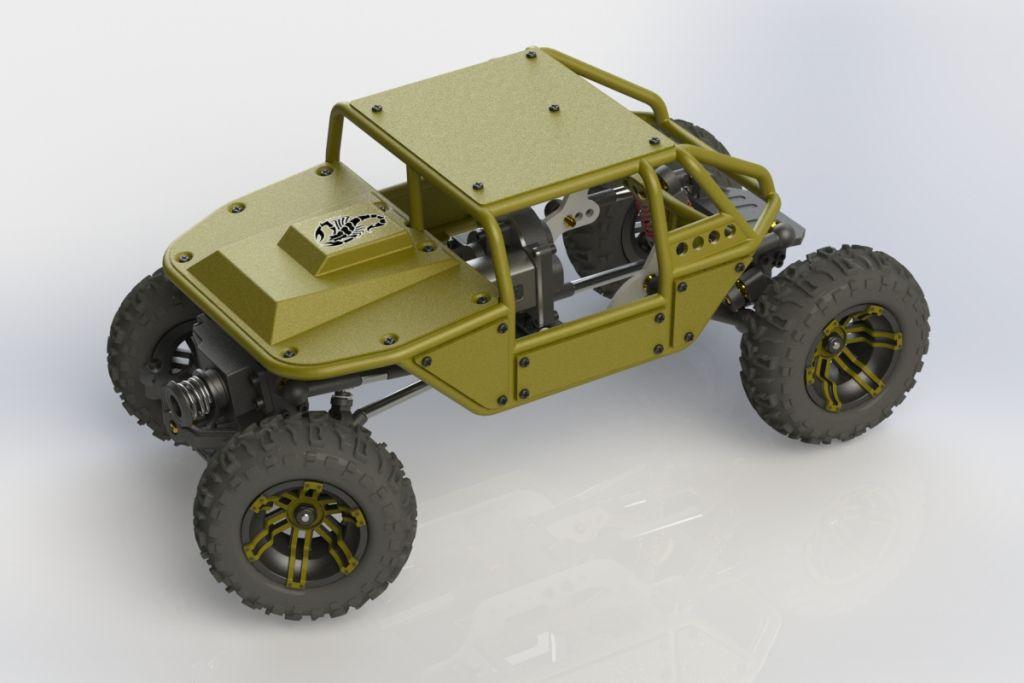 3D Printed Micro Rock Crawler Parts - YouTube