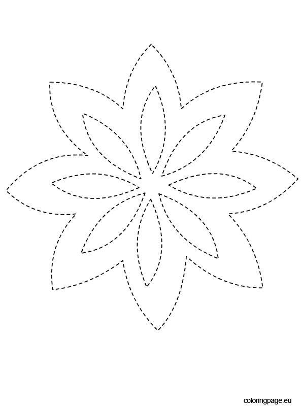 traceable-flower   Printable   Pinterest   Flower, Stencil templates ...