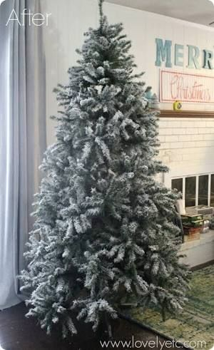 Image Result For Snow Spray Christmas Tree Snowy Christmas Tree Flocked Christmas Trees Fake Christmas Trees