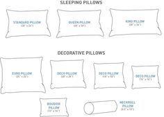 Captivating Size Matters! (For Your Pillows)   Au Lit Fine Linens