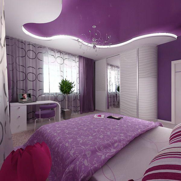 astounding luxury purple bedroom idea | Luxury Apartments Bedroom Interior with Contemporary Style ...