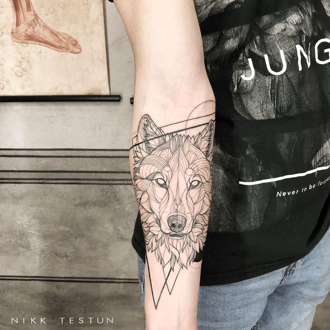 Geometry Example Wolf Tattoo Forearm Wolf Tattoo Sleeve Tattoos