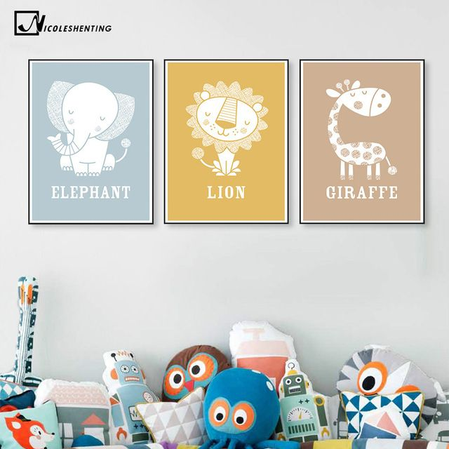 Precise Nordic Posters Nursery Hd Print For Baby Room Hot Air Balloon Elephant Wall Art Canvas Painting Picture Kids Bedroom Decoration Online Shop Home Decor