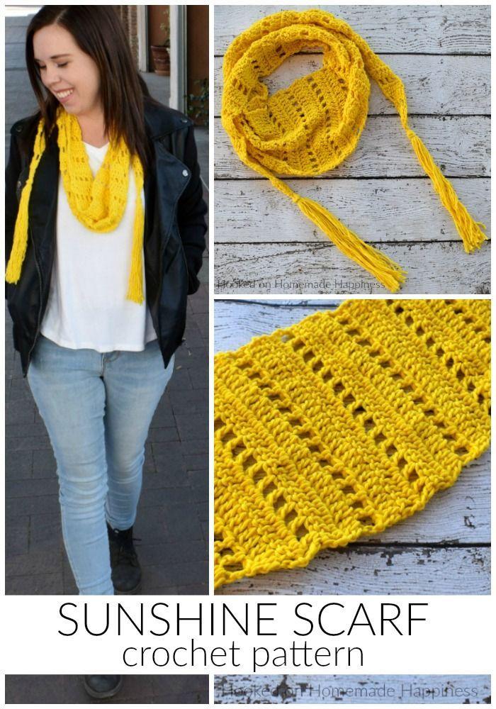 Sunshine Crochet Scarf Pattern Crochet Scarf Patterns Scarf