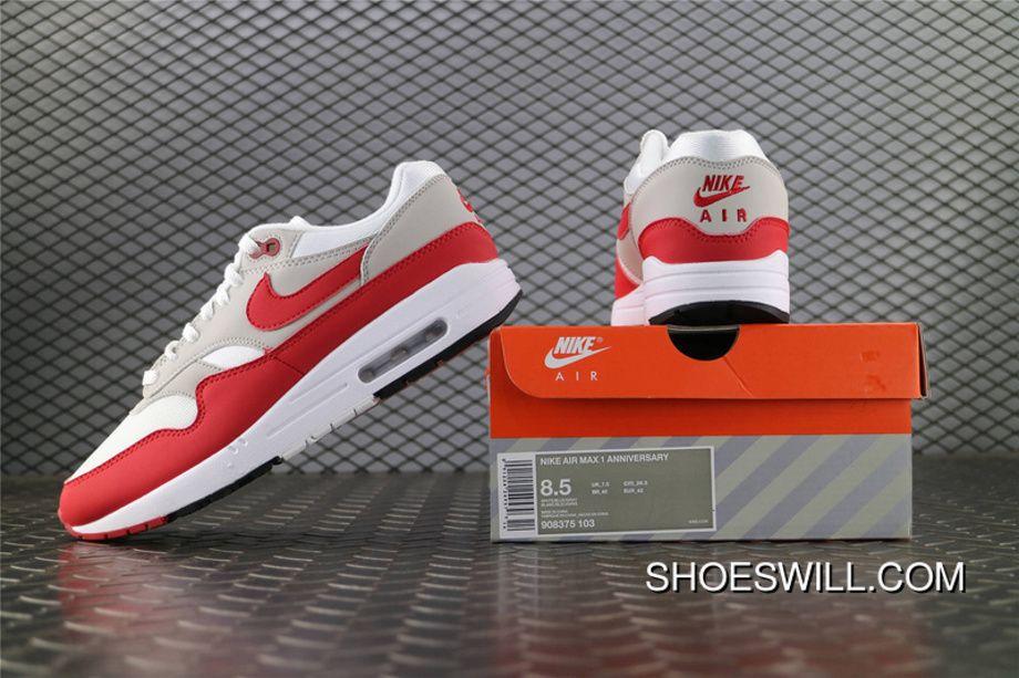 pretty nice c5785 b65fe Nike Air Max 1 30th Anniversary Air Max 87 Men Red White 908375 103 New  Year Deals