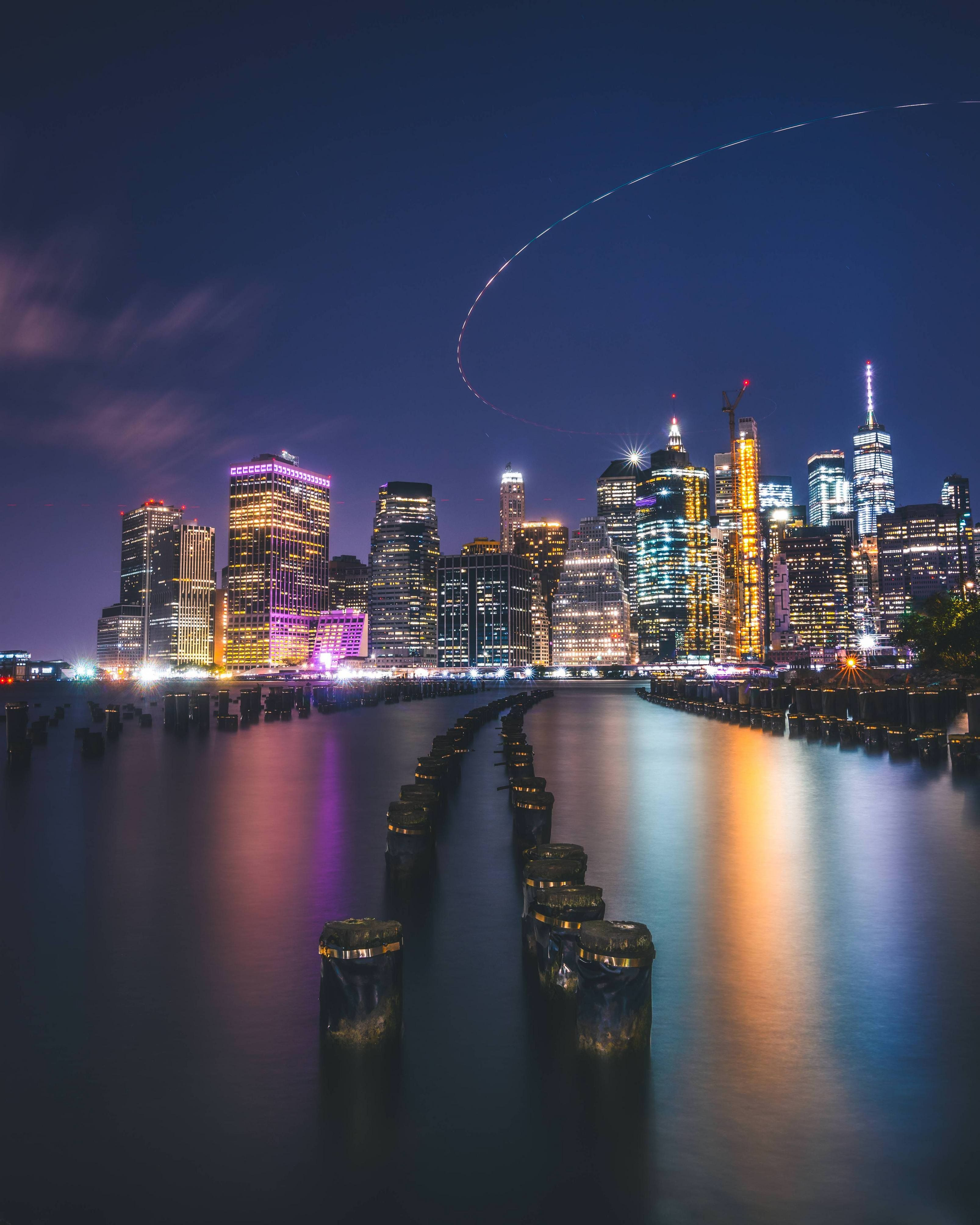 Night Time Photo Of New York City New York City Ny Photo Satisfying Pictures