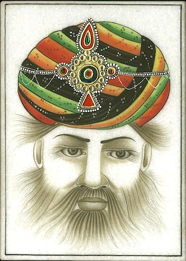 India Turban Indian Turbans Marble Indian Paintings India