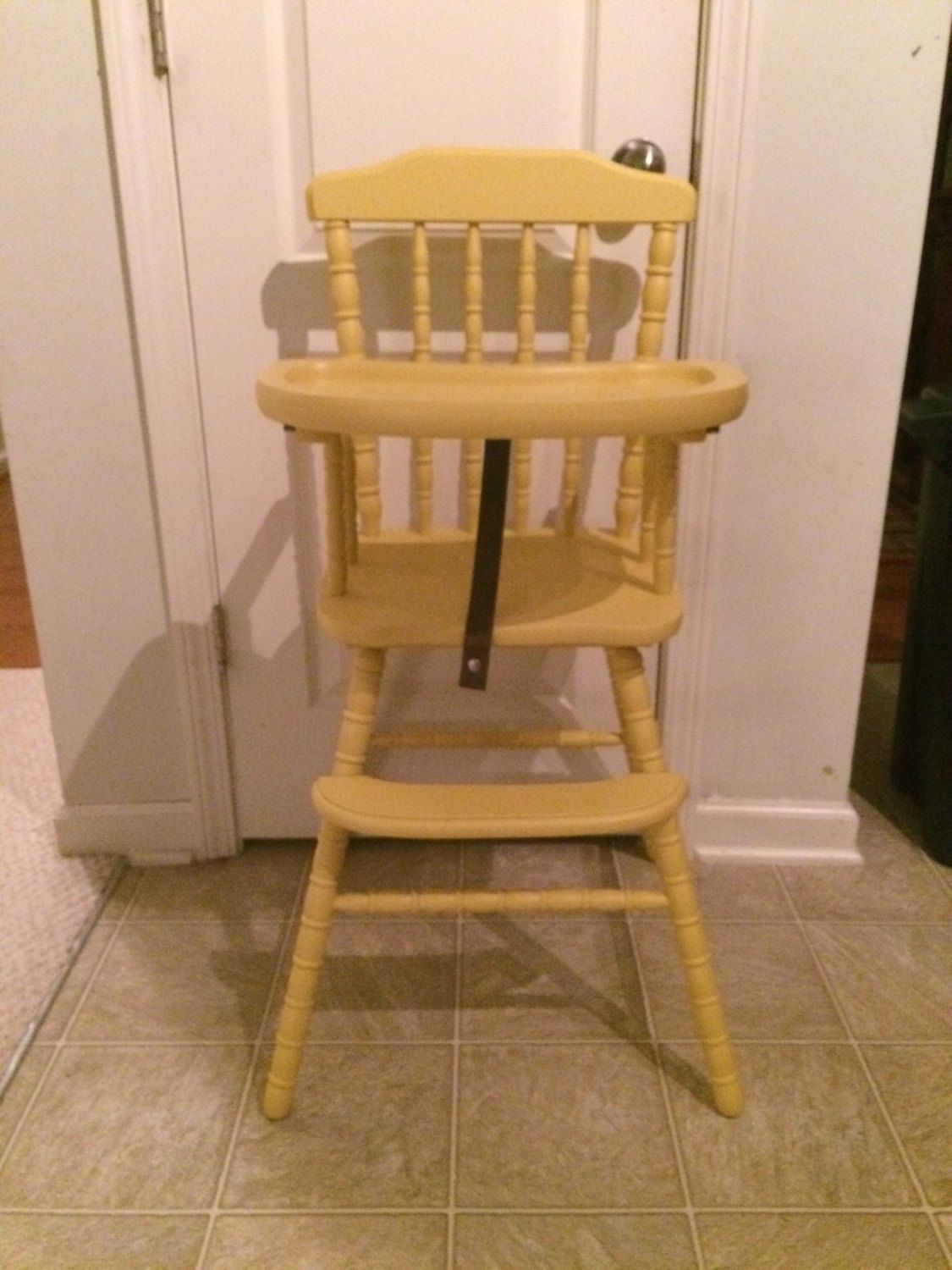 Amish wooden high chairs - Vintage Wooden High Chair Jenny Lind Antique High Chair Vintage High Chair
