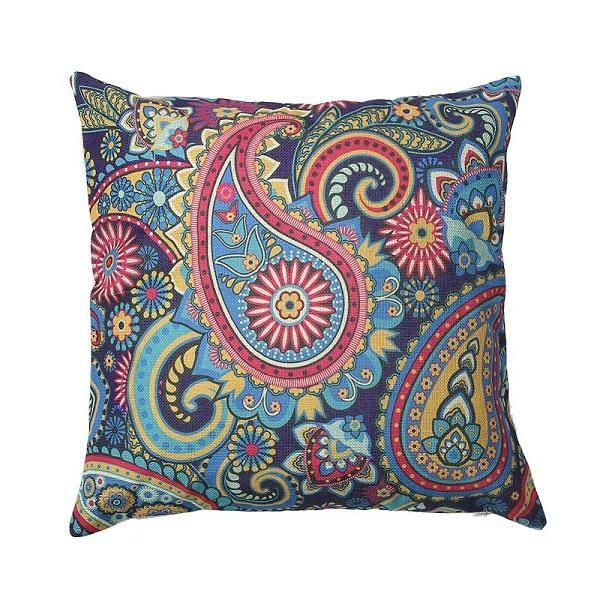 "Paisley Floral Linen Pillowcase Cushion Cover Home - 18""x18"" (4 styles)"
