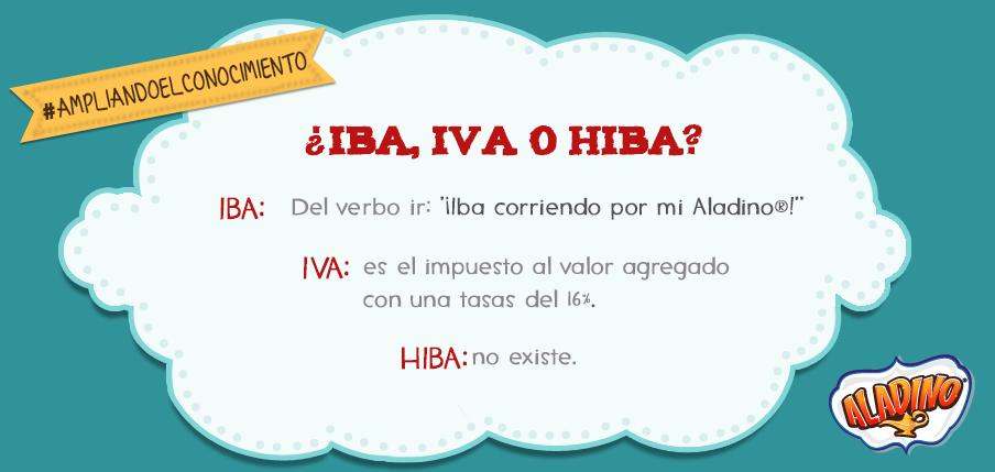 Iba Iva O Hiba Ortografía Verbos Aladino