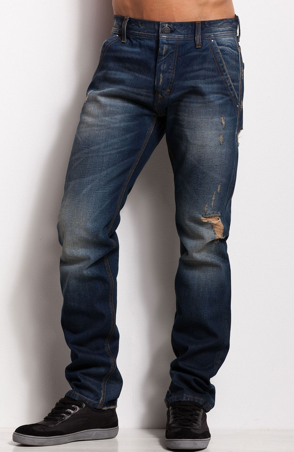 ea294faecda7 THOSE SHOES J66 - Worn Destroyed JeanOnline Exclusive - New Arrivals - Mens  - Armani Exchange