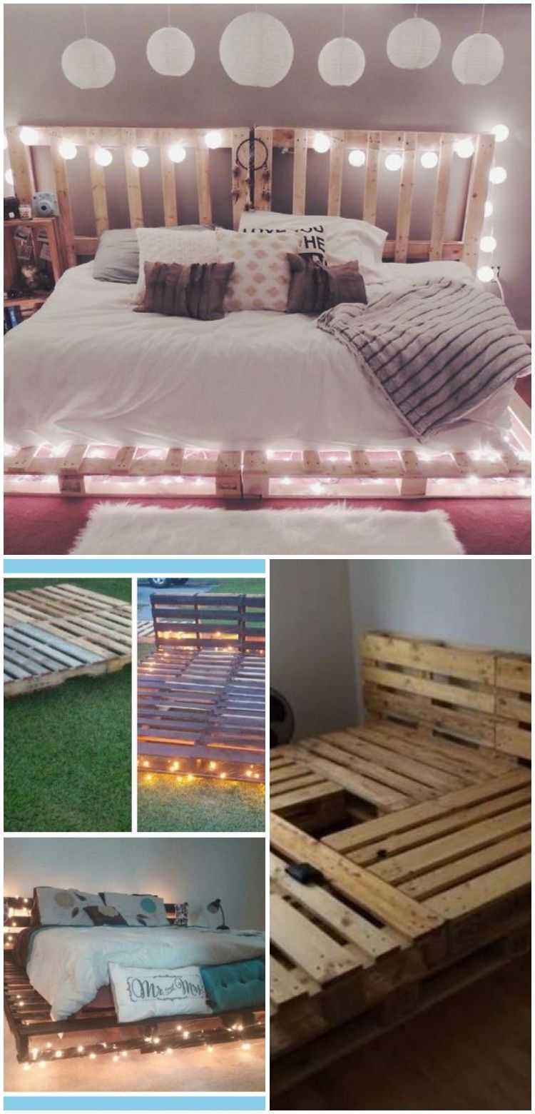 Top 62 Recycled Pallet Bed Frames Diy Pallet Collection In 2020