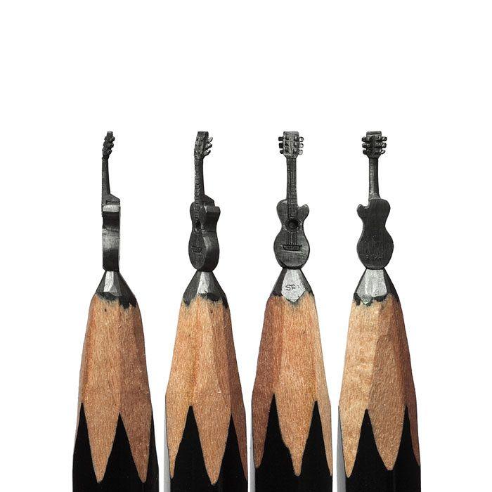 I Turn Pencils Into Miniature PopCulture Sculptures Bored Panda - Artist carves miniature pop culture sculptures into pencils